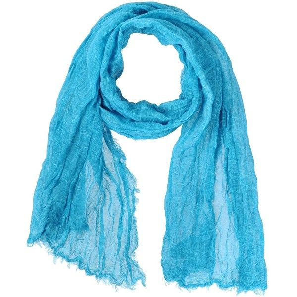 Mauro Grifoni Oblong Scarf ($70) ❤ liked on Polyvore featuring accessories, scarves, turquoise, oblong scarves, fringed shawls, long scarves, long shawl and fringe scarves