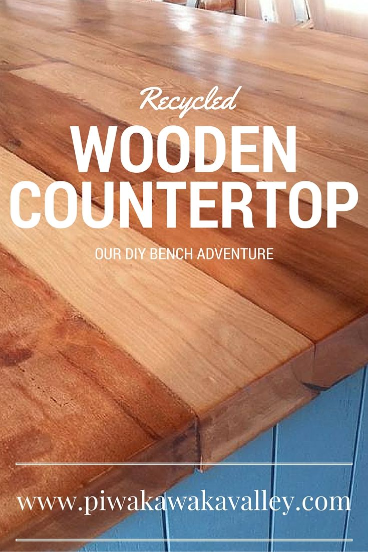 Diy Recycled Wooden Countertop Step By Step Guide To A Beautiful
