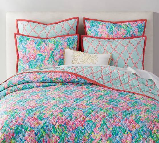 Lilly Pulitzer Pottery Barn in 2020 Quilted sham