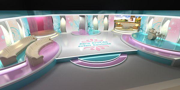 Tv Set Designs On Behance Tv Set Design Set Design Stage Set Design