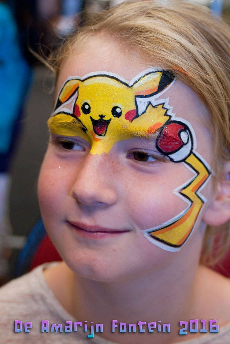 Pin By Jeannie Hayes On Face Painting Designs Pikachu Face Painting Face Painting Designs Face Painting