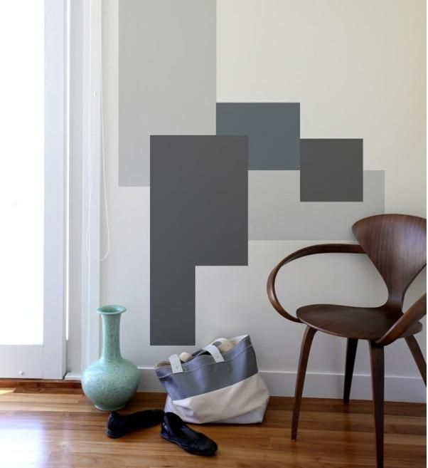 Geometric Painting Design On Walls | New Flat: Ideas | Pinterest
