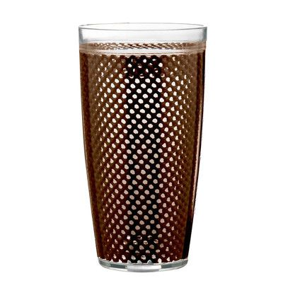 Kraftware Fishnet Double Wall Insulated Tumbler Color: Chocolate
