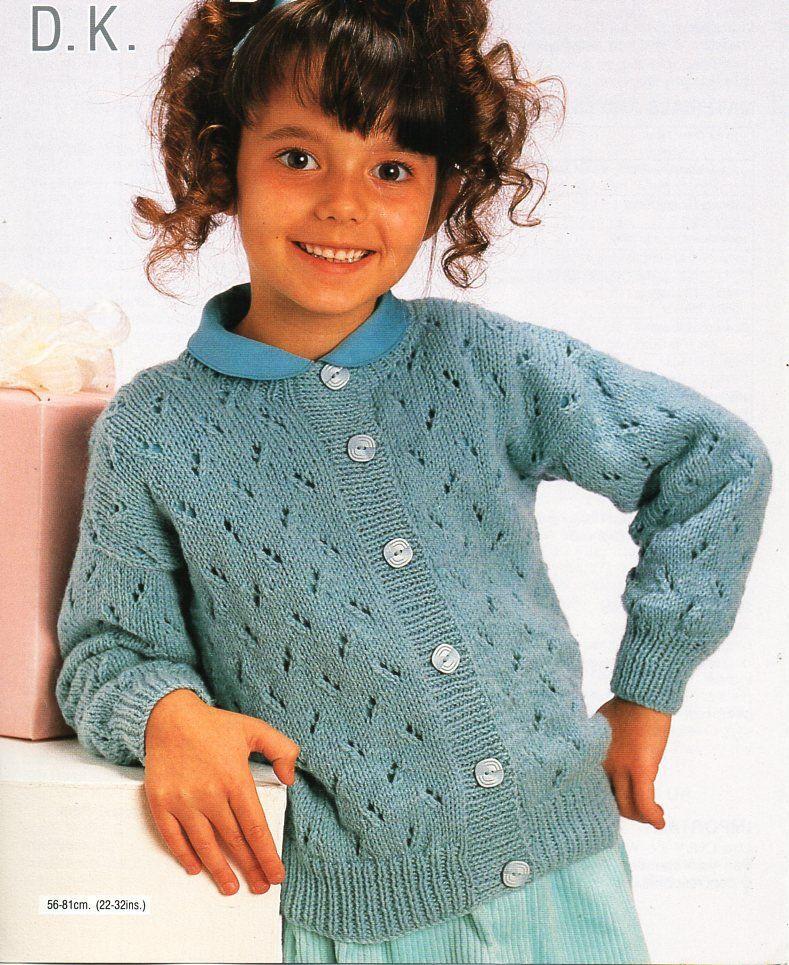5231bf3d5 girls cardigan knitting pattern pdf download childrens cardigan jacket  round neck 22-32