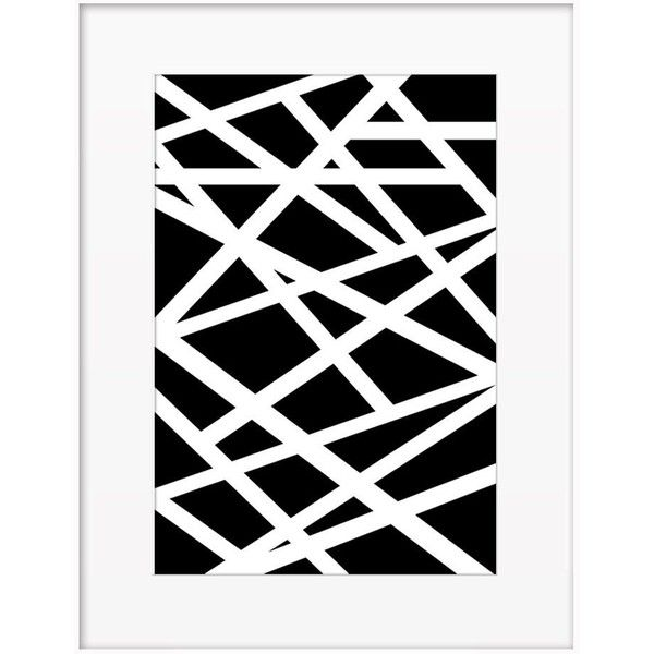 Artfully Walls Criss Cross Black And White By (810 NOK) ❤ liked on Polyvore featuring home, home decor, wall art, posters, apple poster, black and white wall art, home wall decor, nyc poster and new york city poster