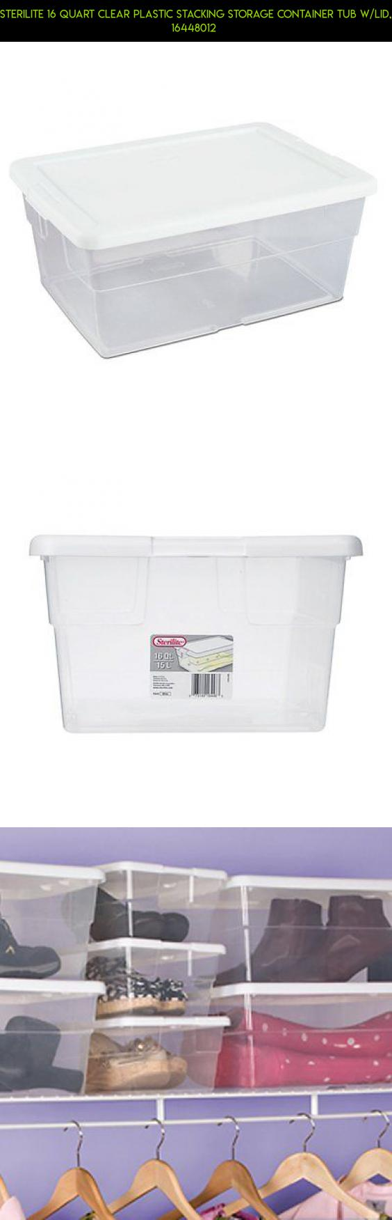 Sterilite 16 Quart Clear Plastic Stacking Storage Container Tub w/Lid, 16448012  #parts #drone #products #racing #shopping #camera #fpv #gadgets #kit #technology #tubs #tech #storage #plans