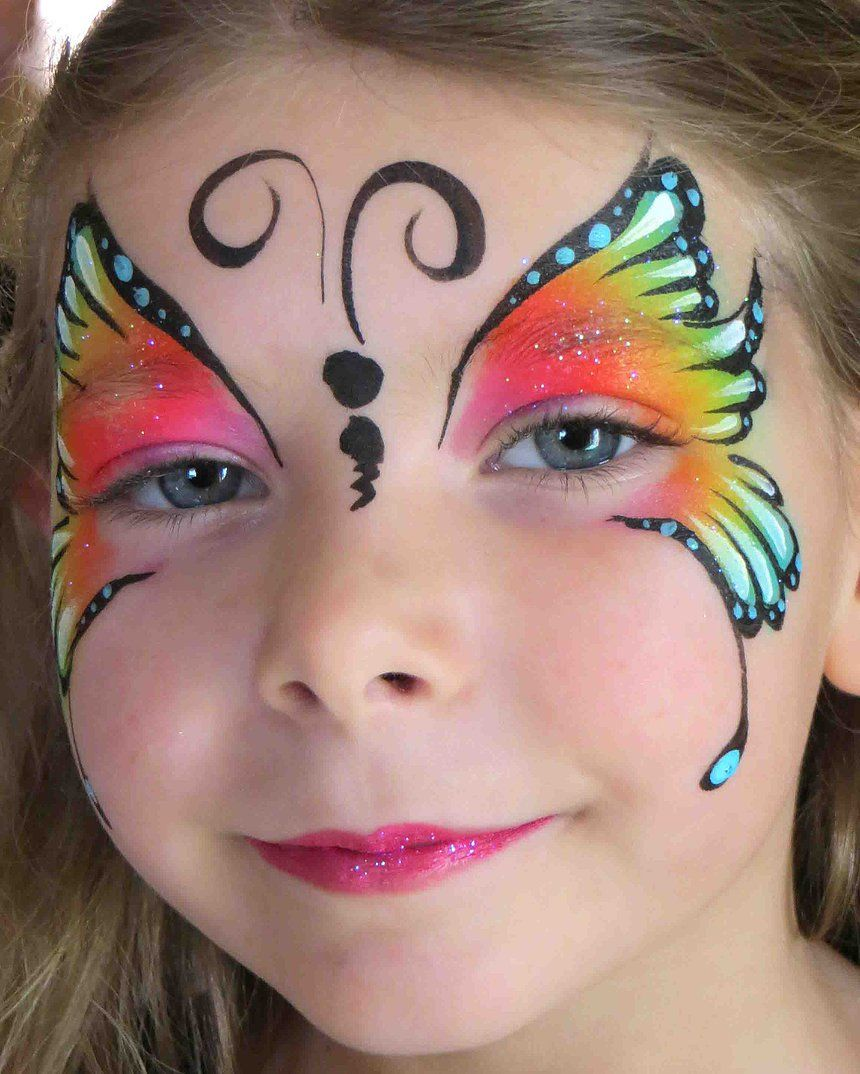 Uncategorized Face Painting Butterfly rainbow butterfly face painting animal faces pinterest painting