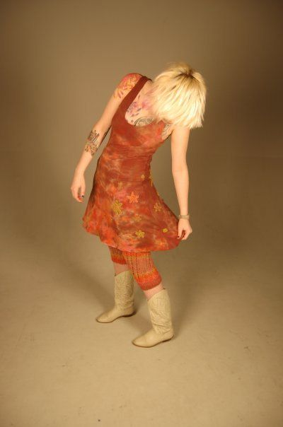 Hand-Dyed Nebula: Jersey Dress, Jumper, Comfortable, Sleeveless Dress, Colorful Dress, Hippie Dress, Bohemian Dress, Shibori, Tie Died Dress