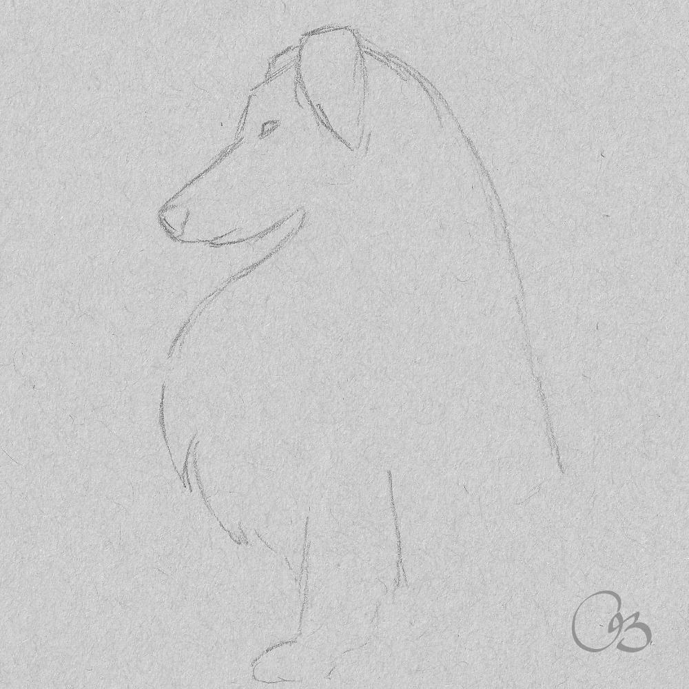 Dog Sketch Drawing Dog Sketch Drawing Sketches Cute Drawings