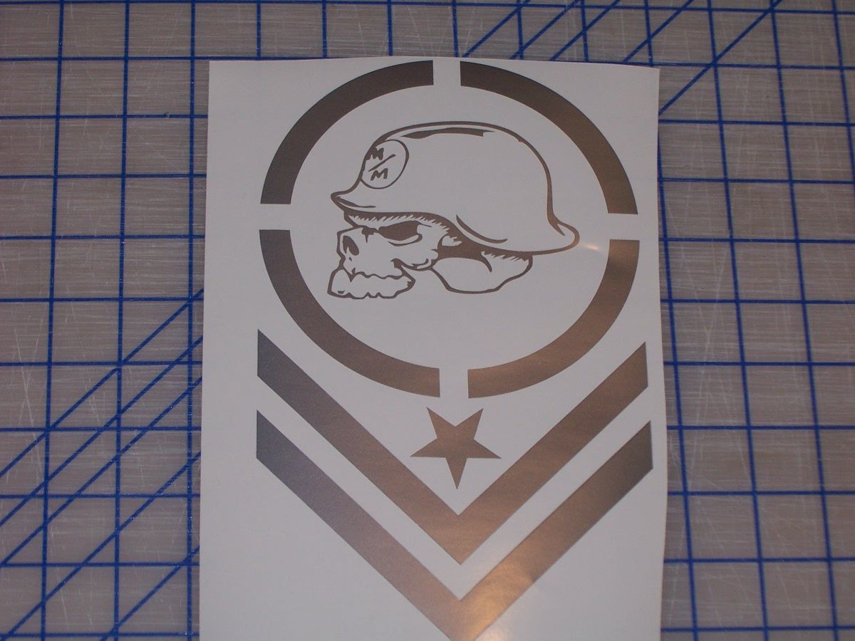 Metal Mulisha Army Stripe X Decal Sticker Decals Truck Decals - Military window decals for cars