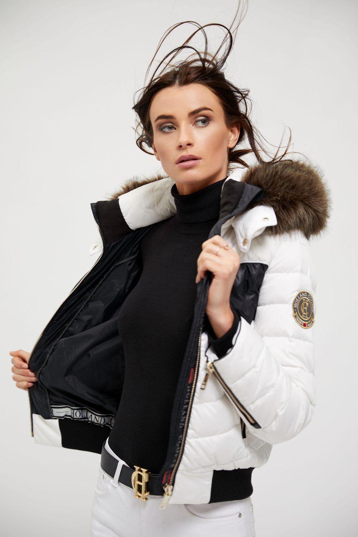 Vallon Down Bomber Black White Black And White Fashion Clothes For Women