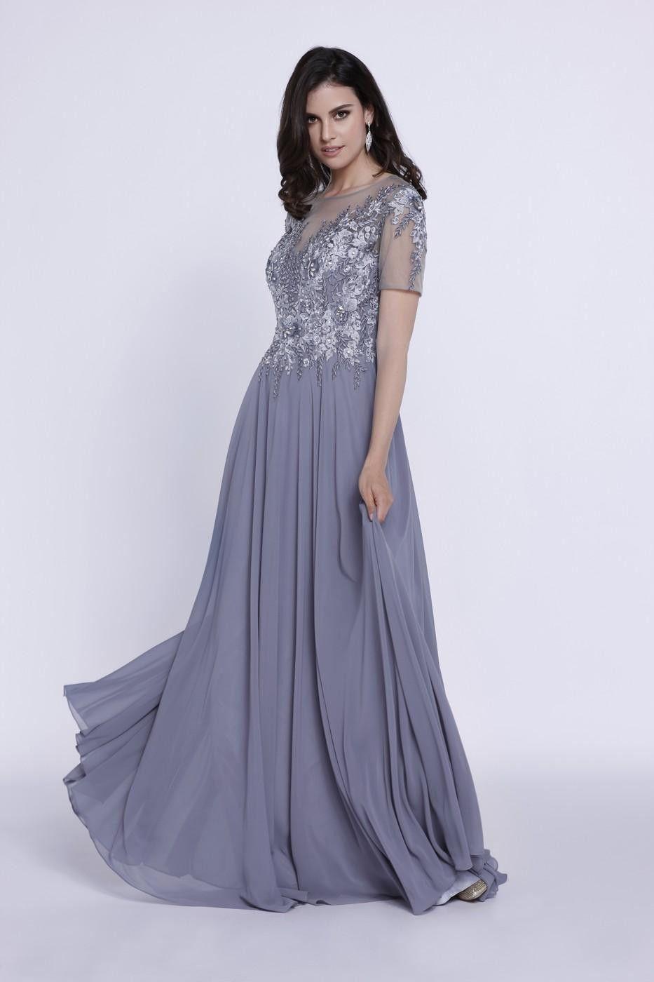 Modest Elegant Long Fomal Dresses Plus Size Mother of the ...