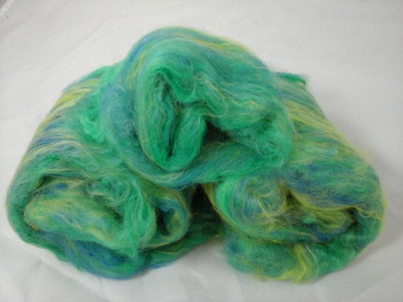 Suri Alpaca Batt Hand Carded Batts Alpaca by BreezyRidgeAlpacas