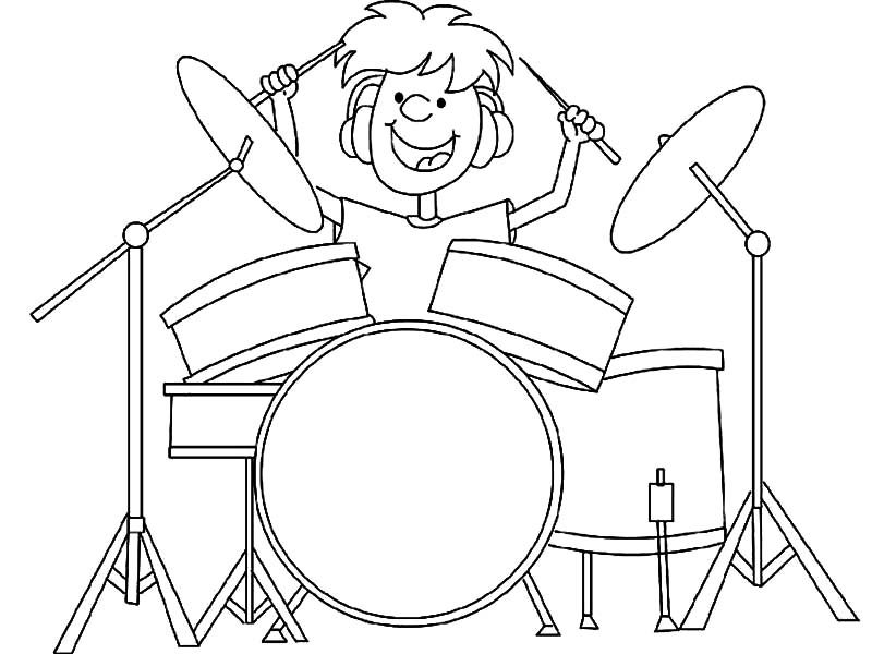 Drummer Boy Got Talent Coloring Pages Kids Play Color