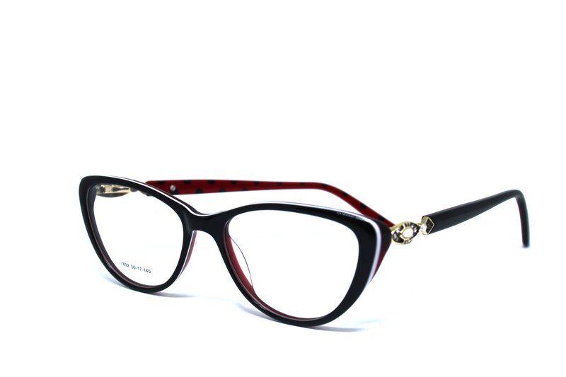 d3c9923427a98 Armação Óculos de Grau Preto Vermelho e Dourado Luc Vision - Luc Vision  Armações