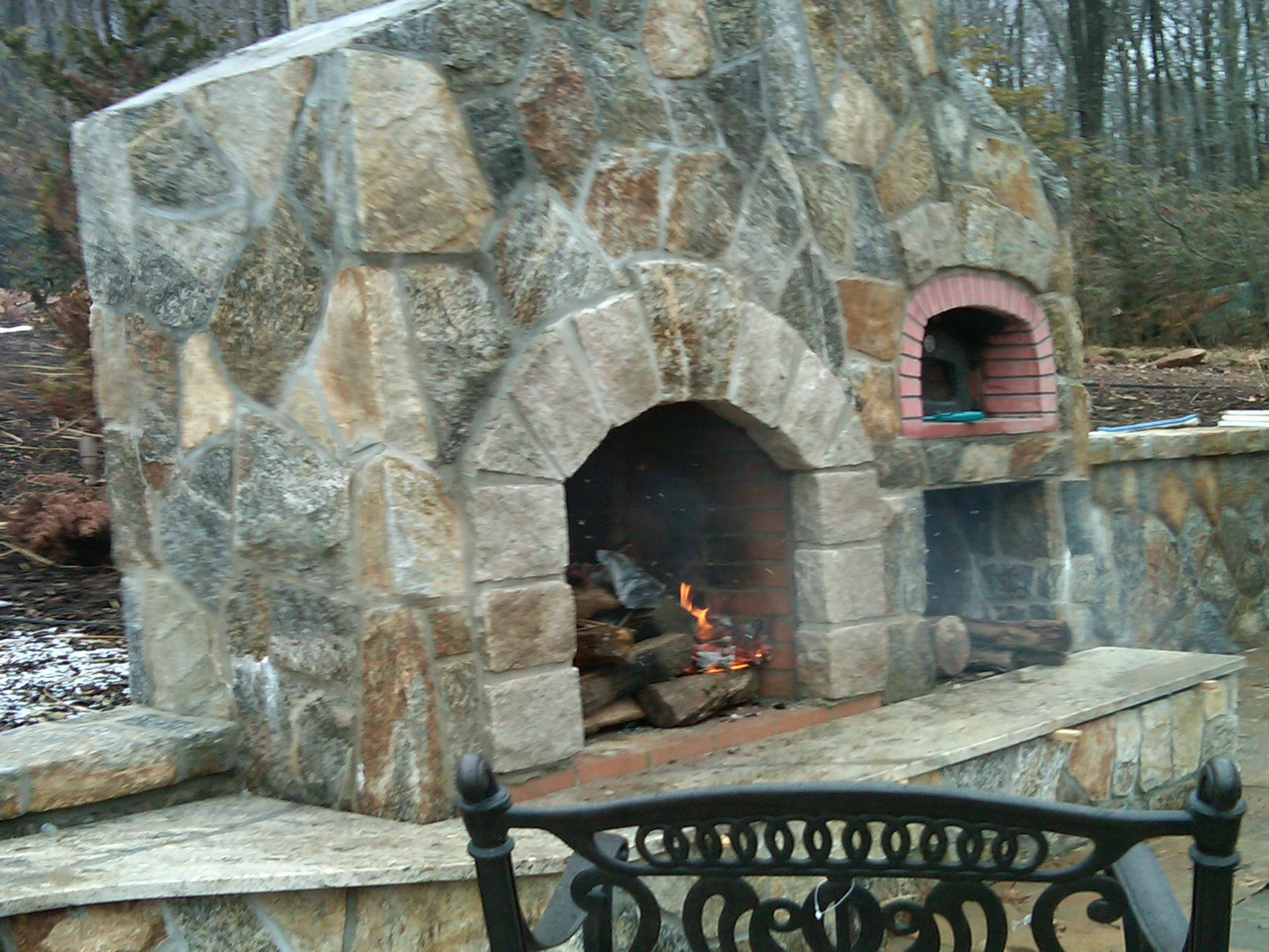 Outdoor Fireplace With Pizza Oven Plans Caurius