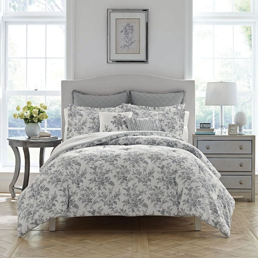 Best Laura Ashley Lifestyles Annalise Comforter Set Comforter 400 x 300
