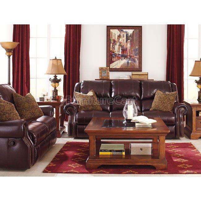 Walworth Blackcherry Reclining Living Room Set W Power