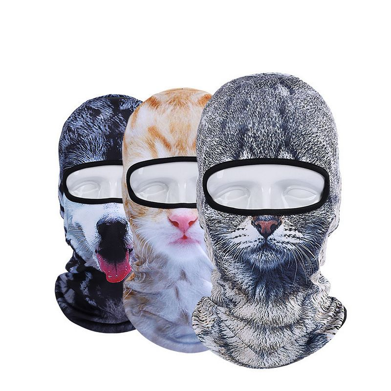 Hot New 3D Animal Face Mask Outdoor Sports Cap Bicycle