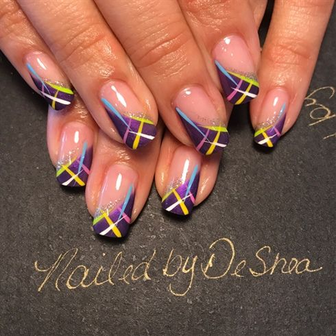 line worknailedbydeshea  simple nail art designs