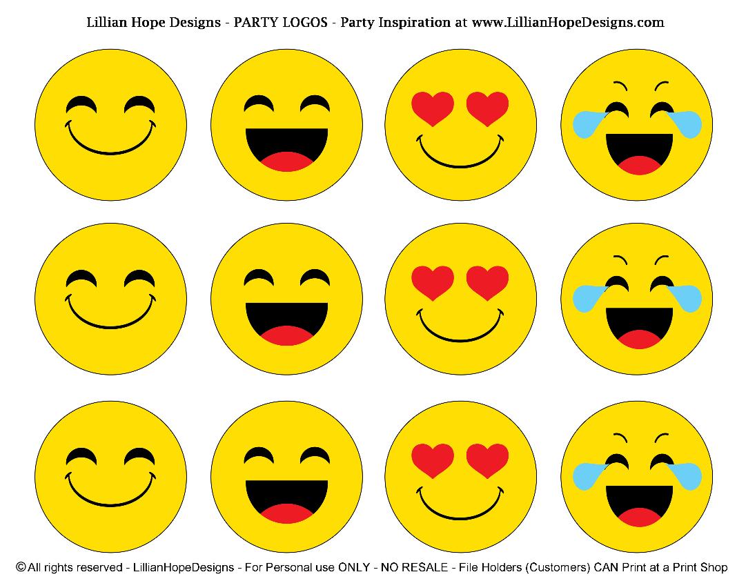 Http Lillianhopedesigns Com Emoji Party Free Emoji Printables Pinteres