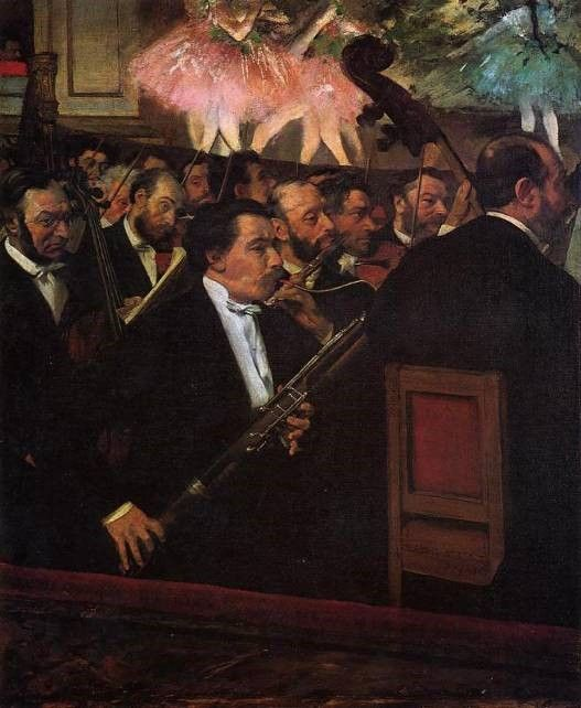 The Orchestra of the Opera - 1870 c.