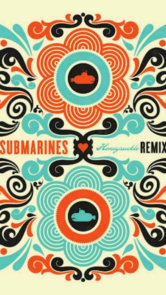"""Submarines, album art -- """"Honeysuckle"""" remix"""