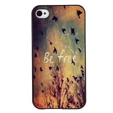 Livre dos pássaros coloridos Desenho Padrão Black Frame PC Hard Case para iPhone 4/4S – BRL R$ 7,89