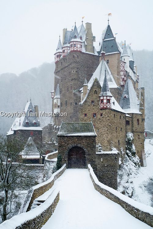 View Of Burg Eltz Castle In Winter Snow In Germany Iain Masterton Photography Germany Castles Burg Eltz Castle Castle