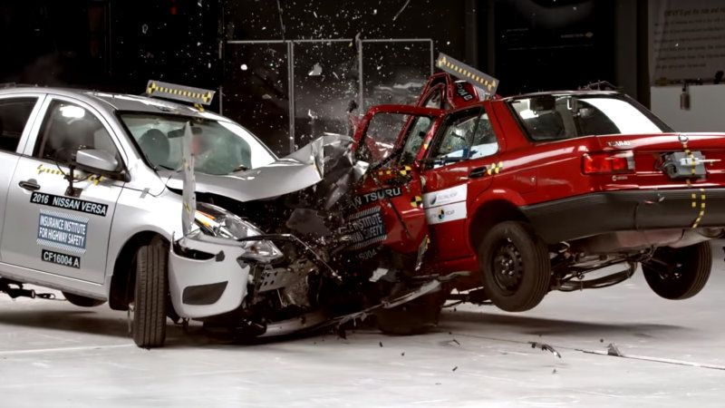What 20 Years Of Safety Progress Looks Like In One Crash Nissan