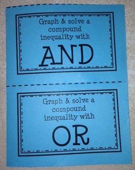 Graphing Solving Compound Inequalities Foldable Teaching Algebra School Algebra Teaching Math