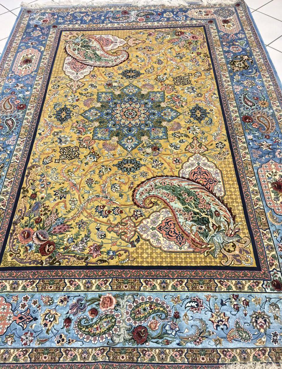 Grand Masterpiece By Ibrahimpour Pair Silk Persian Rug Item Cs Hf 2009 Silk Persian Rugs Rugs Rugs On Carpet