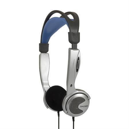 Compact Lightweight Headphones with  Volume Control Adjustable at MCM Electronics