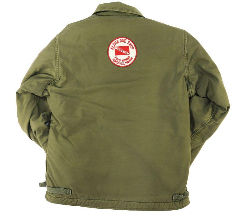 74's U.S.NAVY A-2デッキジャケット 貴重サイズ 表記(S) カスタムワッペン!