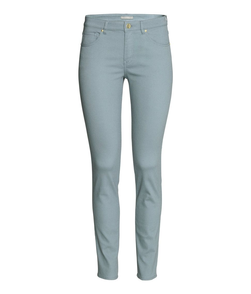 5-pocket pants in washed superstretch twill with a regular waist and slim  legs.  5d458899cdda8