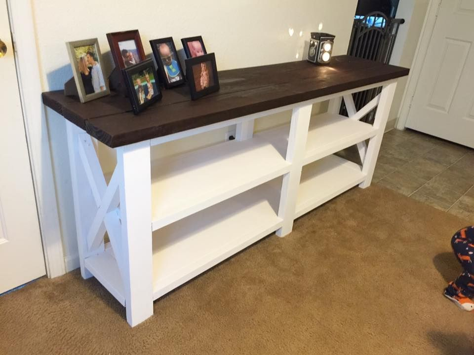 Do It Yourself Home Design: First Furniture Build!!! Farmhouse X Console