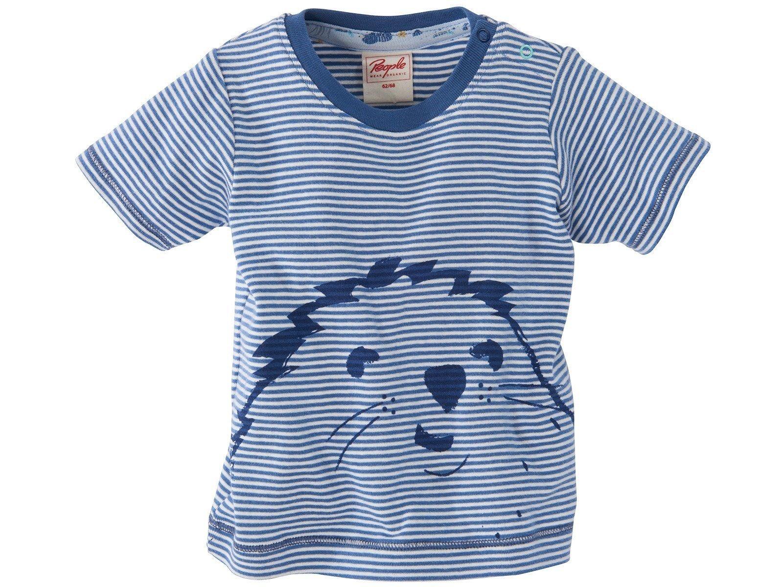 Baby Und Kinder T Shirt Maulwurf Blau Geringelt Von People Wear Organic Gr 62 68 Kinder Kleidung Shirts Kinder T Shirt