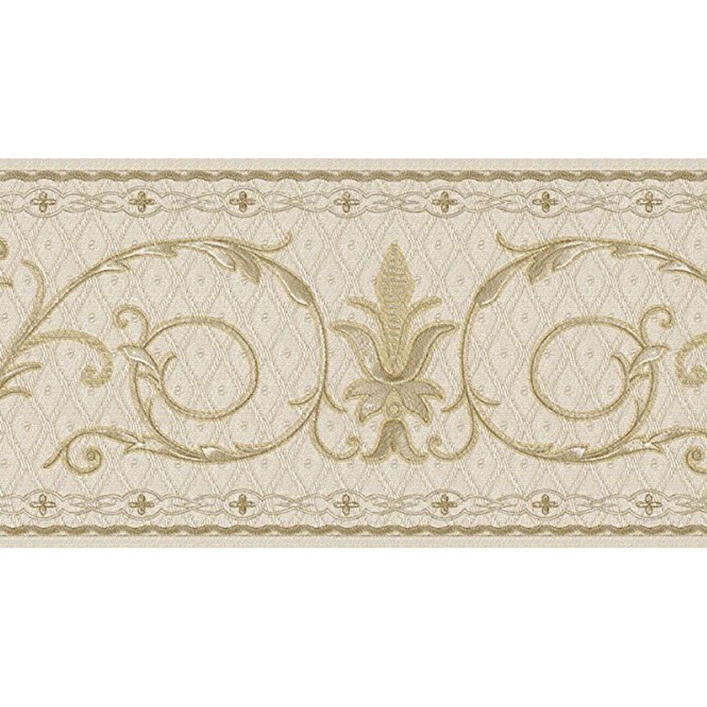879078 Tufted Gold On Cream Scroll Wallpaper Border Walmart Com In 2021 Wallpaper Border Gold Wallpaper Border Peal And Stick Wallpaper