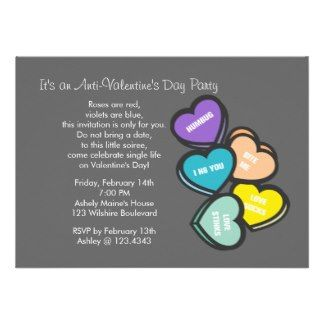 Anti Valentines Party Anti Valentine S Day Party Invitation