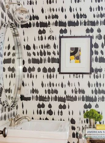 Schumacher Queen Of Spain Wallpaper Black 5005881 Priced And Sold By The Yard 8 Yard Minimum Order Must Order In Increments Of 8 Bathroom Feature Wall Bathroom Wallpaper Schumacher Wallpaper