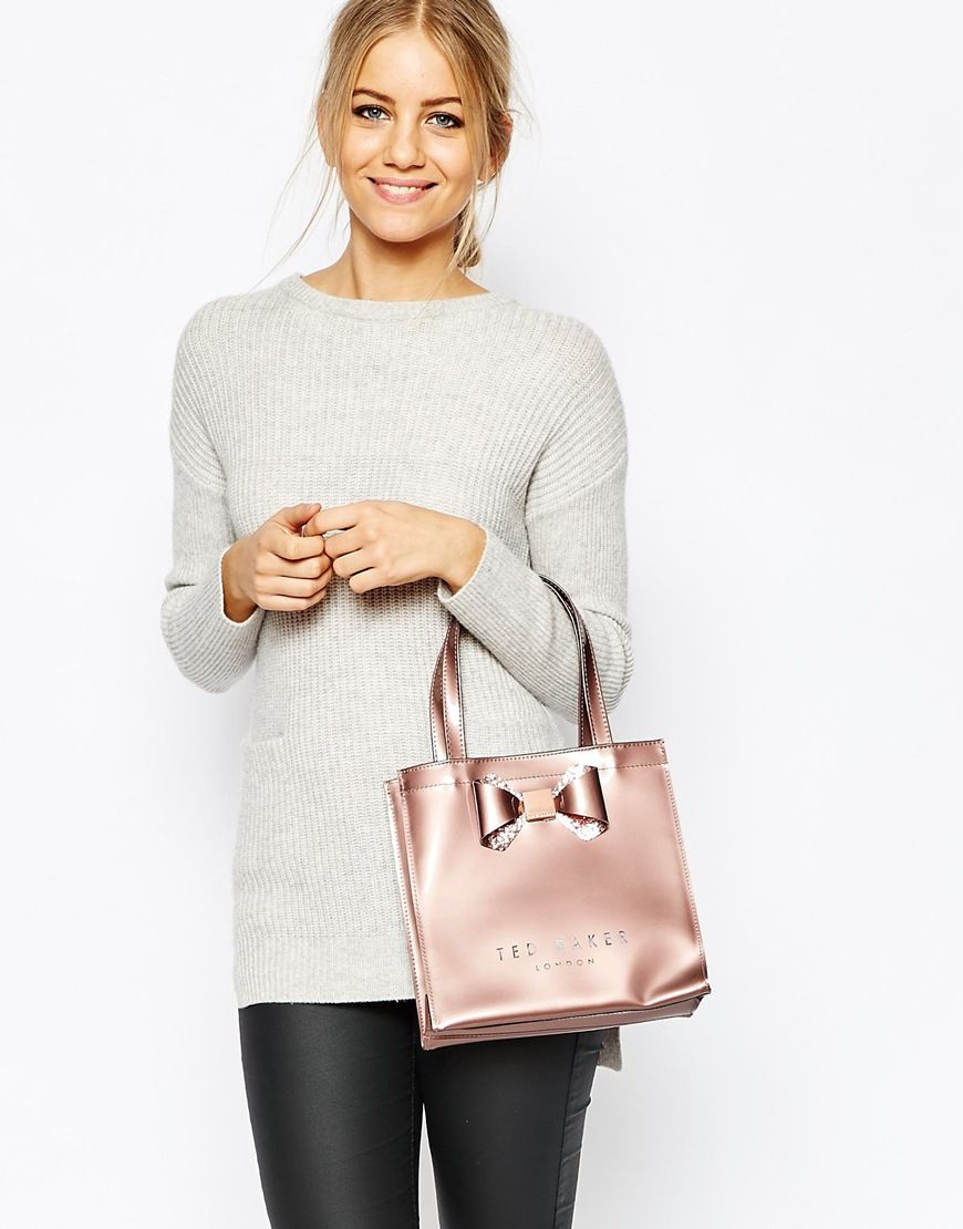 abd2c318276e Image 3 of Ted Baker Crystal Bow Small Icon Bag