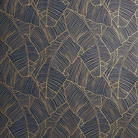 The Best Of Modern Wallpaper Design Dark Dramatic Gold Textured WallpaperNavy WallpaperClassy WallpaperPalm Leaf