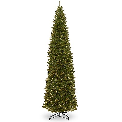 National Tree Company 16-Foot Pre-Lit North Valley Spruce Pencil Slim Artificial  Christmas Tree - National Tree Company 16-Foot Pre-Lit North Valley Spruce Pencil