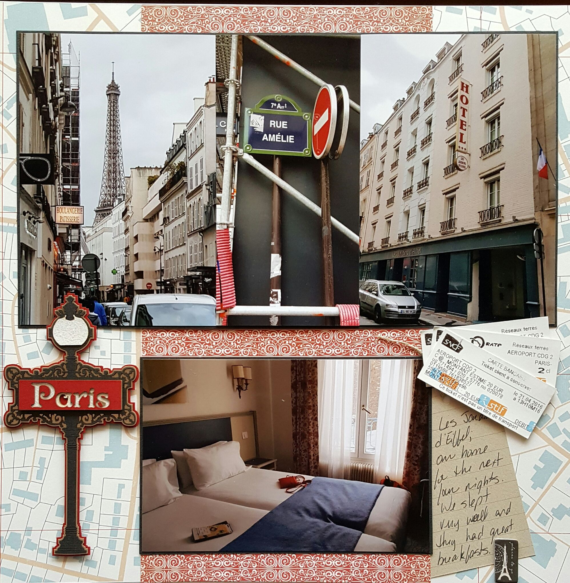 Les Jardins d Eiffel Queen and pany Travel Collection 12 x