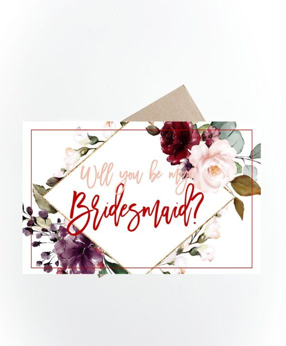 image about Bridesmaid Proposal Printable identified as Printable Will by yourself be my Bridesmaid Card, Bridesmaid