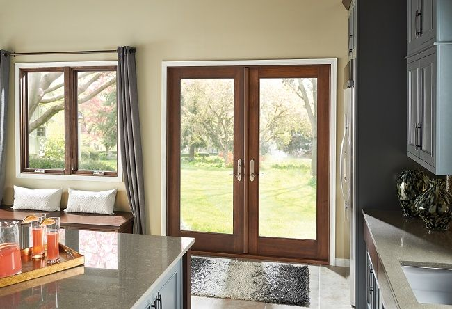 french patio doors can be hinged on