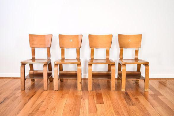 Thonet Mid Century Child Sized Bentwood Chairs   Set Of 4