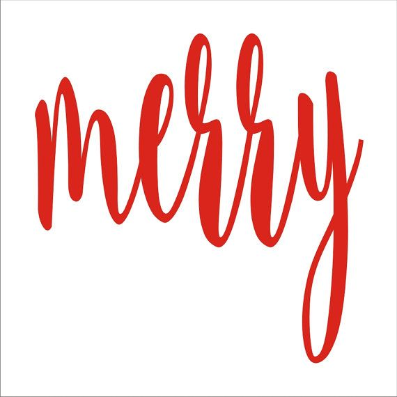 merry STENCIL Christmas Signs design 3 8 sizes by SuperiorStencils