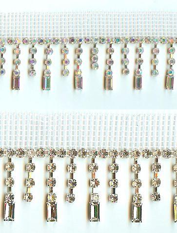 Glitz and Glamour: 1027 AB or Crystal Rhinestone Fringe(click for price)
