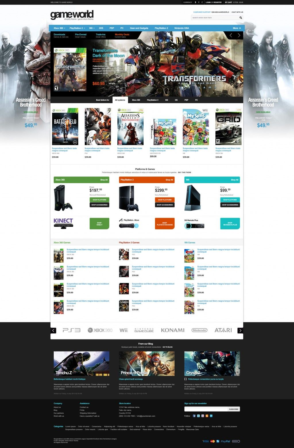 Game Store Shopify Theme – GameWorld | Epic Shopify Themes
